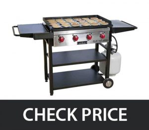 Camp Chef FTG600 – Restaurant Cooking Grill and Griddle with Side Shelves gas grill