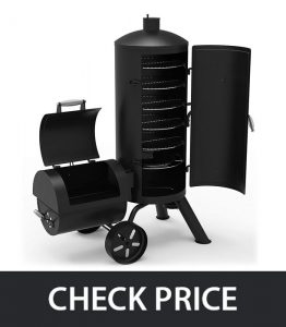 Dyna-Glo DGSS1382VCS – Vertical Offset Charcoal Smoker & Grill