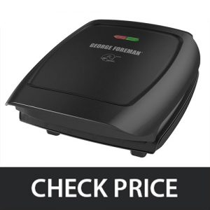 George Foreman GR2060B – Classic Plate Electric Indoor Grill and Panini Press